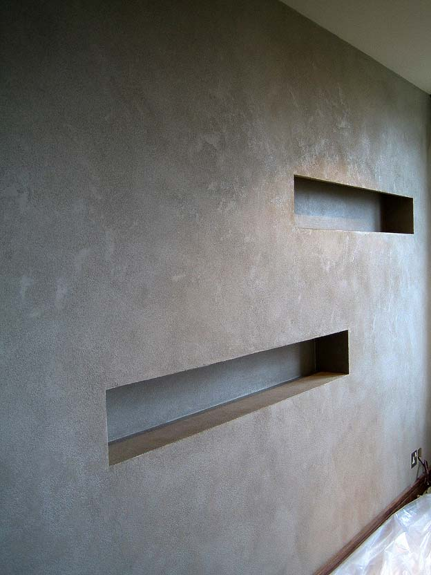 how to give plaster a concrete look